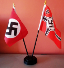 GERMAN WW2 (NAZI) - TABLE FLAG SET (BLACK BASE)